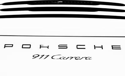 Photograph - 2015 Porsche 911 Monochrome by Rospotte Photography