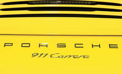 Photograph - 2015 Porsche Yellow 911 Carrera by Rospotte Photography