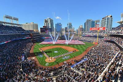San Diego California Baseball Stadiums Photograph - 2015 San Diego Padres Home Opener by Mark Whitt