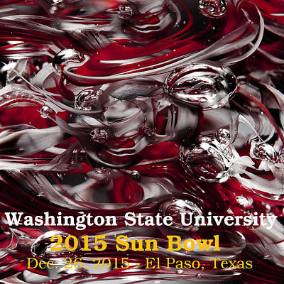 Digital Art - 2015 Sun Bowl - Wsu by David Patterson