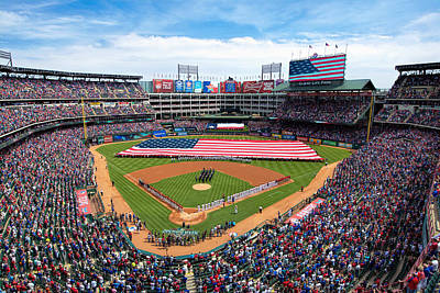 2015 Texas Rangers Home Opener Art Print