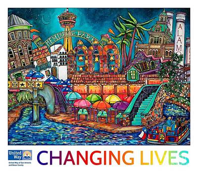 Painting - 2015 United Way Campaign Poster by Patti Schermerhorn