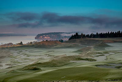 2015 Us Open - Chambers Bay Vi Art Print by E Faithe Lester
