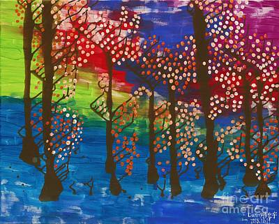 Autism Painting - 2015 The Magic Forest 02 by Danny S Y Lee