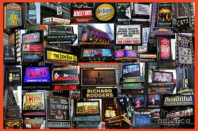 Photograph - 2016 Broadway Fall Collage by Steven Spak