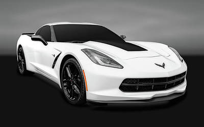 Photograph - 2016 C7 Chevrolet Corvette Coupe  -  2016chevyvettegry0171 by Frank J Benz