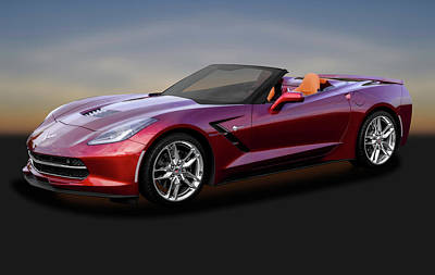 Photograph - 2016 C7 Z51 Chevrolet Corvette Stingray Convertible  -  2016c7z51corvettecv170874 by Frank J Benz