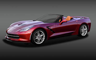 Photograph - 2016 C7 Z51 Chevrolet Corvette Stingray Convertible  -  2016z51chevyc7vettefa170874 by Frank J Benz