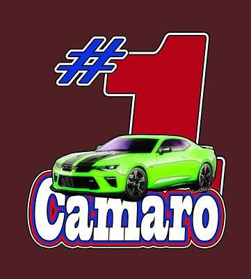 Street Rod Mixed Media - 2016 Camaro by Chas Sinklier