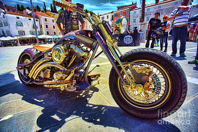 Photograph - 2016 Custom Harley Winner by Graham Hawcroft pixsellpix