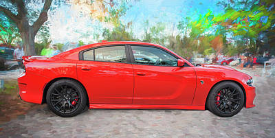 Photograph - 2016 Dodge Srt Hellcat Charger C205 by Rich Franco