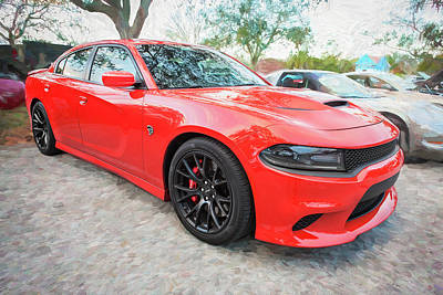 Photograph - 2016 Dodge Srt Hellcat Charger C206   by Rich Franco