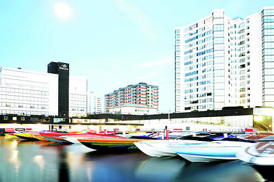 2016 Early Morning Poker Run Boats Overexposed And Massaged Art Print