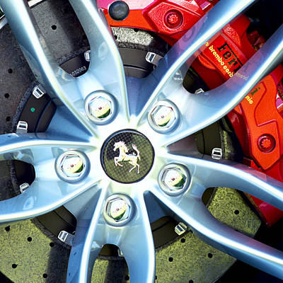 Photograph - 2016 Ferrari Wheel by Rospotte Photography