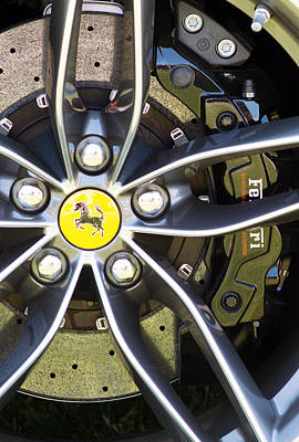Photograph - 2016 Ferrari Wheel V2 by Rospotte Photography