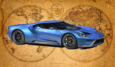 Ford Painting - 2016 Ford Gt by William Mace