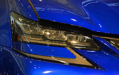 Photograph - 2016 Lexus Gs F Head Light by Mike Martin