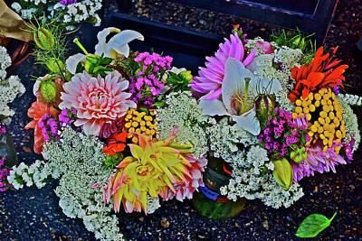 Photograph - 2016 Monona Farmers Market Bouquets 2 by Janis Nussbaum Senungetuk