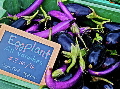Photograph - 2016 Monona Farmers' Market Early October Eggplant All Varieties by Janis Nussbaum Senungetuk