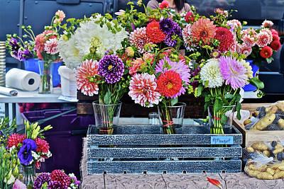 Photograph - 2016 Monona Farmers' Market Mid-august Flowers by Janis Nussbaum Senungetuk