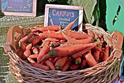 Photograph - 2016 Monona Farmers' Market Organic Carrots by Janis Nussbaum Senungetuk