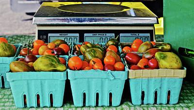 Photograph - 2016 Monona Farmers' Market Organic Cherry Tomatoes by Janis Nussbaum Senungetuk