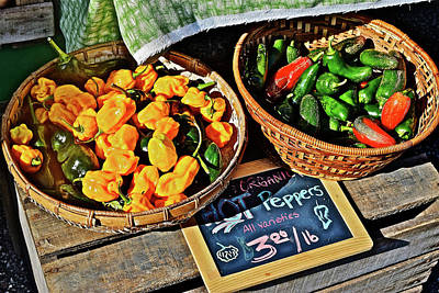 Photograph - 2016 Monona Farmers' Market Organic Hot Peppers by Janis Nussbaum Senungetuk