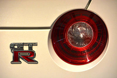 Photograph - 2016 Nissan Gt-r Taillight by Mike Martin