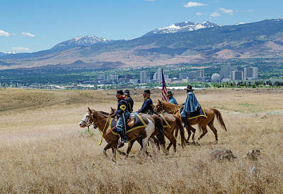 Photograph - 2016 Reno Cattle Drive 13 by Rick Mosher