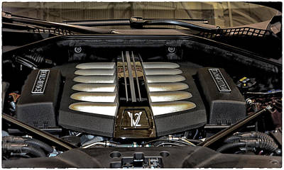 Photograph - 2016 Rolls Royce Wraith Engine by Mike Martin