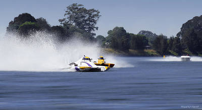Photograph - 2016 Taree Race Boats 04 by Kevin Chippindall