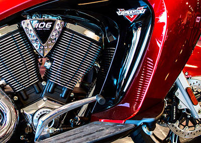 Photograph - 2016 Victory 106 Red by Rospotte Photography