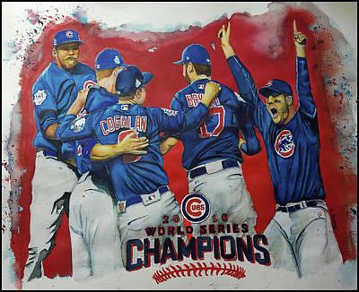 2016 World Series Champions Art Print