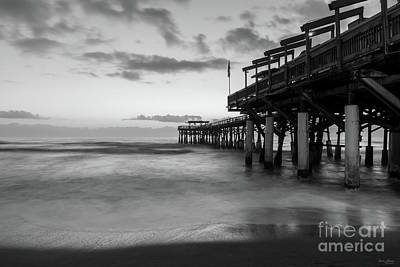 Photograph - 2017 1st Dawn Tranquility Grayscale by Jennifer White