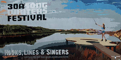 Painting - 2017 30a Songwriters Festival Banner by Racquel Morgan