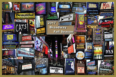 Photograph - 2017 Broadway Fall Collage by Steven Spak