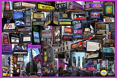 Photograph - 2017 Broadway Spring Collage by Steven Spak