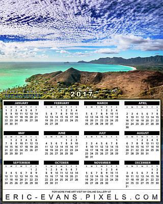 Sunset Photograph - 2017 Calendar Waimanalo From The Lanikai Pillboxes  by Aloha Art