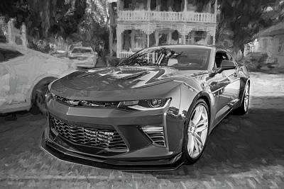 2017 Chevrolet Camaro Ss2 Bw Art Print by Rich Franco