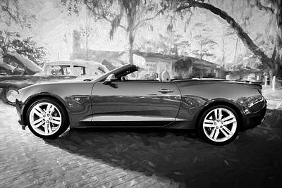 Photograph - 2017 Chevrolet Camaro Ss2 Convertible Bw C183 by Rich Franco