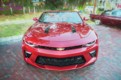 Photograph - 2017 Chevrolet Camaro Ss2 Convertible C184 by Rich Franco