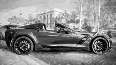 Photograph - 2017 Chevrolet Corvette Gran Sport Bw by Rich Franco