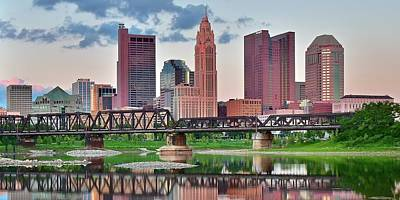 Photograph - 2017 Columbus Panoramic by Frozen in Time Fine Art Photography