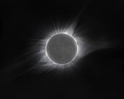 Solar Eclipse Photograph - 2017 Eclipse And Earthshine by Dennis Sprinkle