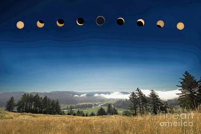 Photograph - 2017 Eclipse Over Nestucca Bay Nwr by Tim Moore
