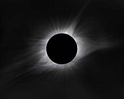 Solar Eclipse Photograph - 2017 Eclipse Totality by Dennis Sprinkle