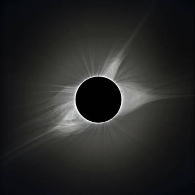Solar Eclipse Photograph - 2017 Eclipse Totality's Corona by Dennis Sprinkle