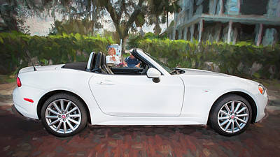 Photograph - 2017 Fiat 124 Spider C140 by Rich Franco