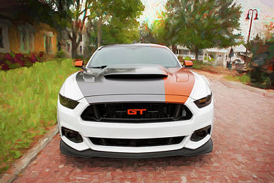 Photograph - 2017 Ford Gt Mustang 5.0 by Rich Franco