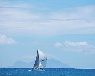 Sint Maarten Wall Art - Photograph - 2017 Heineken Regatta Sailing Past Saba Saint Martin Sint Maarten Eyes by Toby McGuire